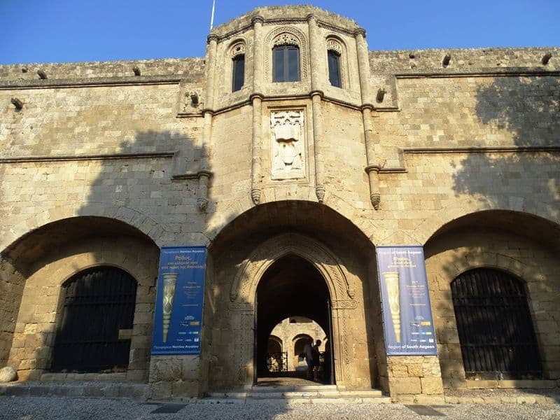 The entrance of the Hospital of the Knights which is now an archaeological museum