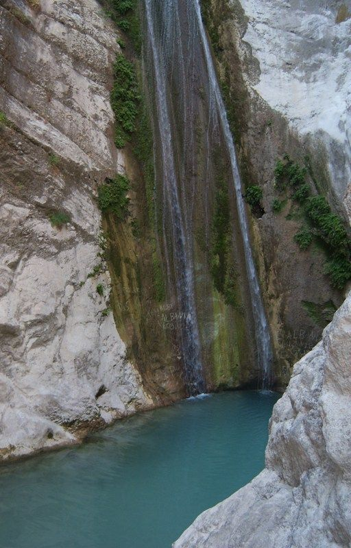 Waterfalls in Nidri Lefkada