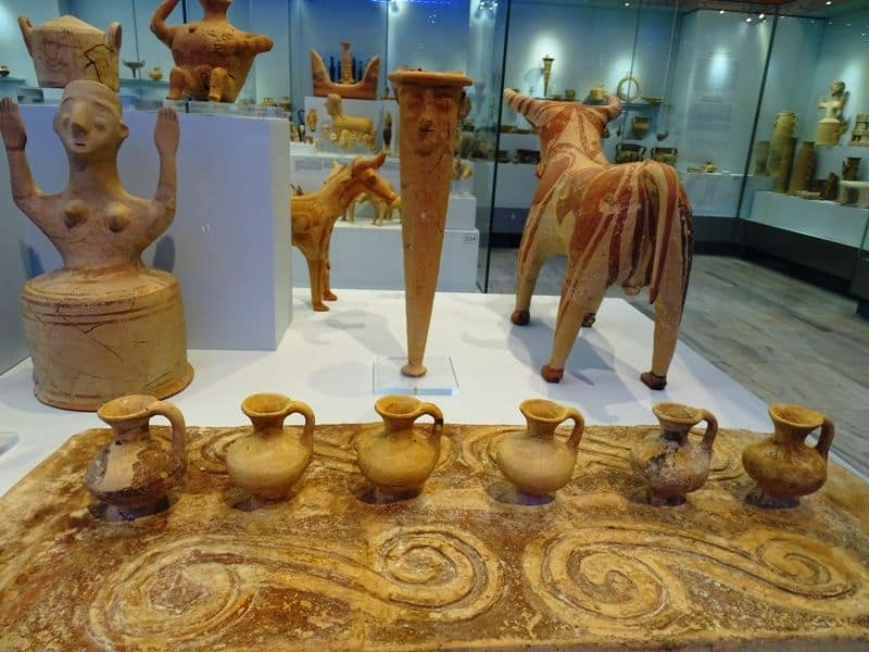 findings at the archaeological museum of Heraklion