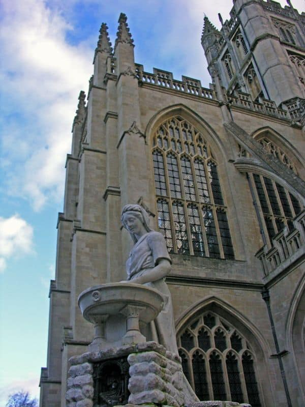 outside the Bath Abbey