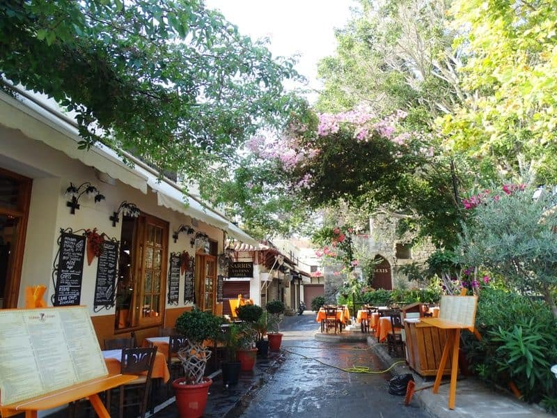 Restaurants within the Medieval town Rhodes