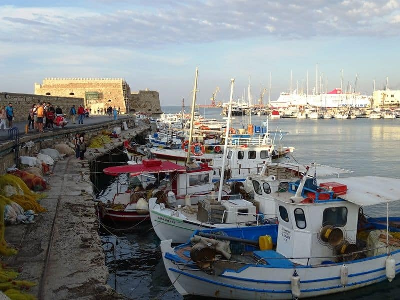 venetian port Heraklion Crete