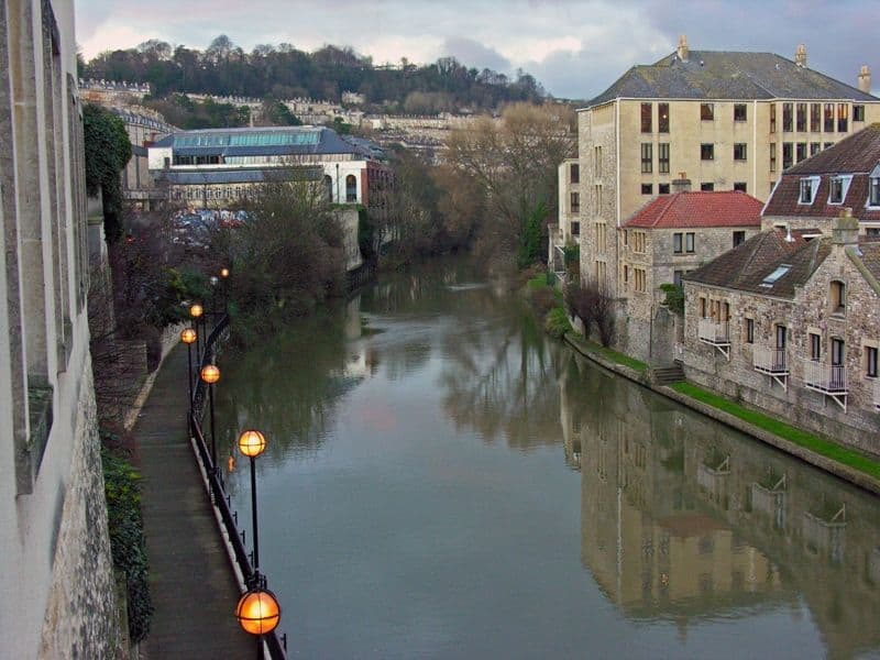 view of the river, Bath