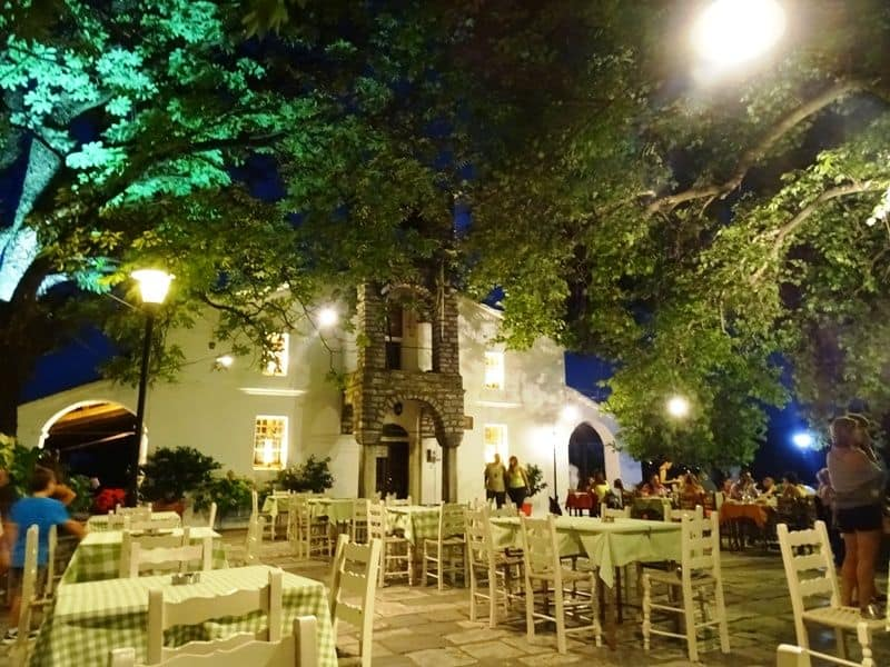 Agioi Taxiarches square Tsagarada Pelion