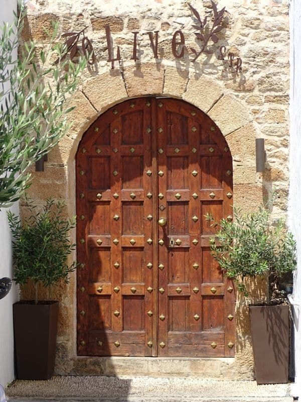Beautiful door at Lindos village Rhodes