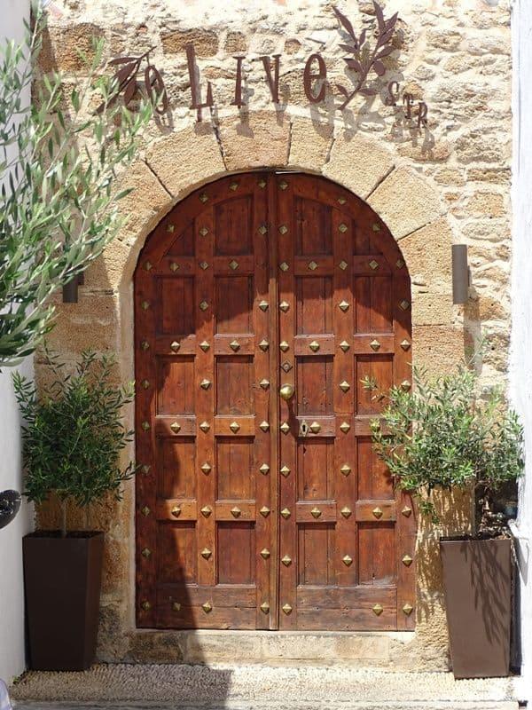 Beautiful door at Lindos village Rhodes
