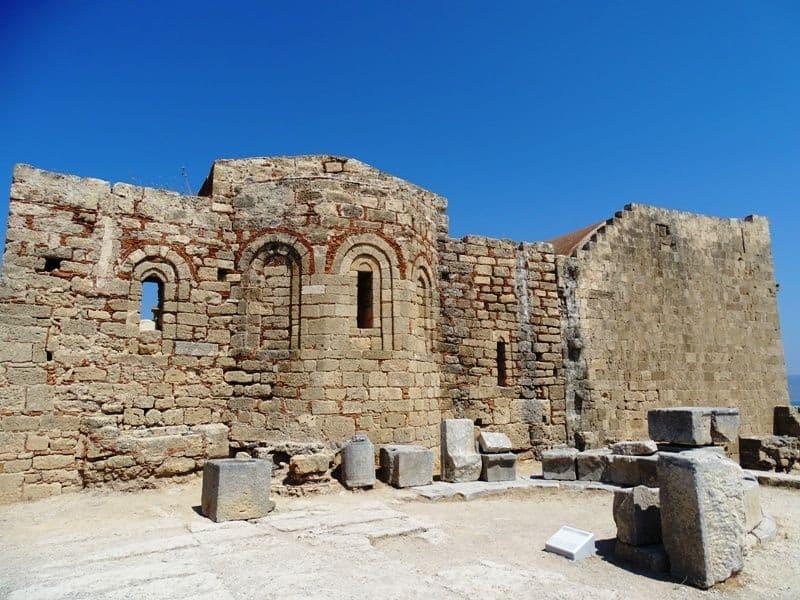 Byzantine Church of St John at the Acropolis Lindos