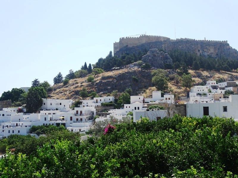 Lindos village Rhodes