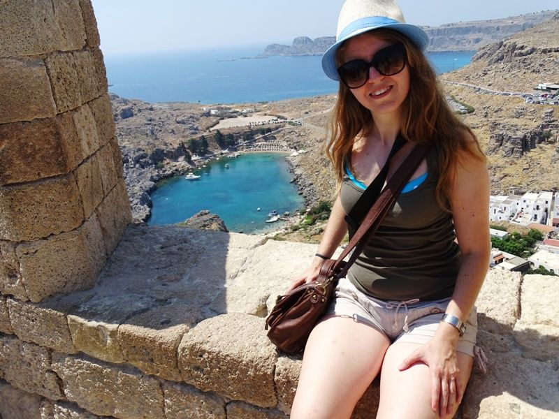 Me at the Acropolis of Lindos Rhodes