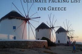 Packing-List Greece