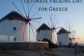 Packing-List Greece
