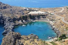 St-Pauls's bay from above-Lindos Rhodes