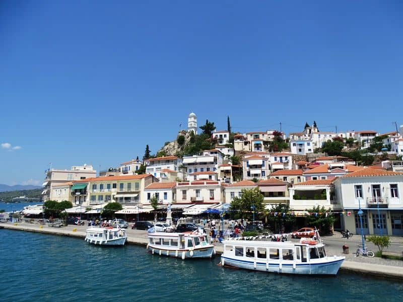 The island of Poros - one day cruise from Athens
