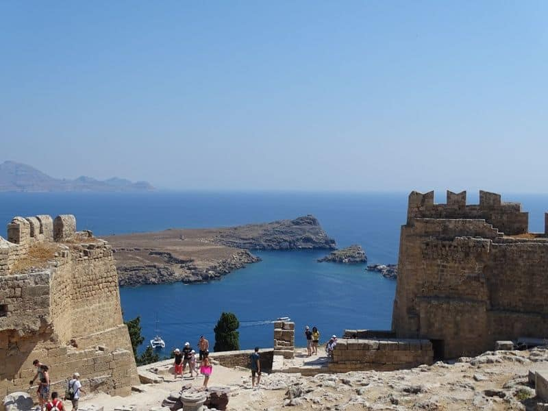 The view from the Acropolis Lindos Rhodes