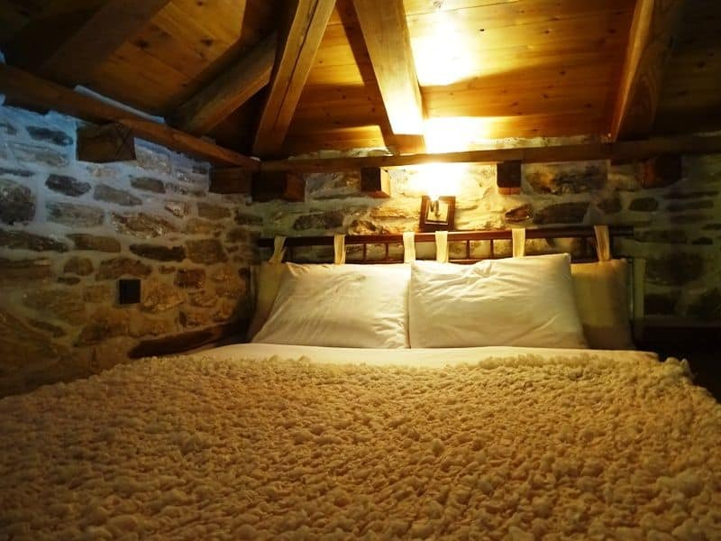 our king size bed at the attic