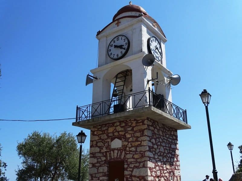 the clock tower skiathos