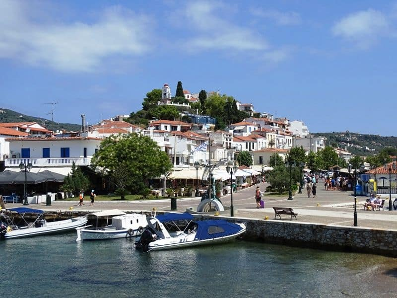 the town of Skiathos from Bourtzi