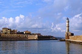 Venetian harbour and lighthouse Chania - things to do in Chania Crete