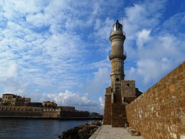 The lighthouse in the Venetian harbour - things to do in Chania Crete