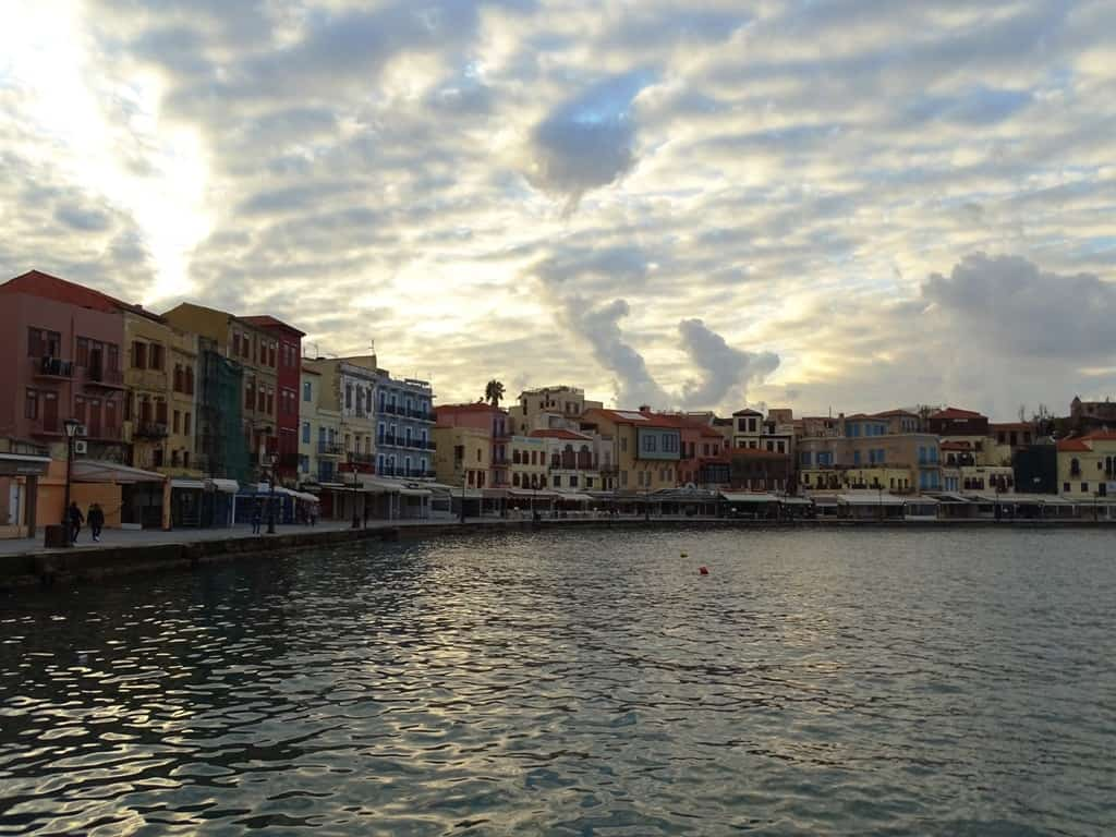 Dramatic view of the Venetian harbour - things to do in Chania Crete