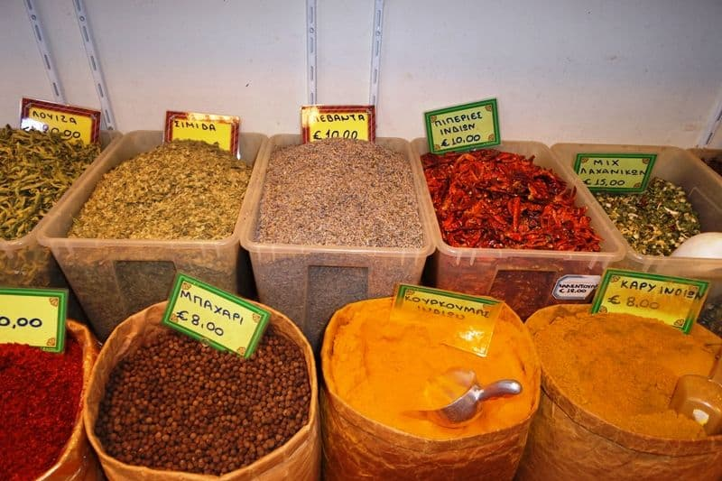 Evripidou Street spices