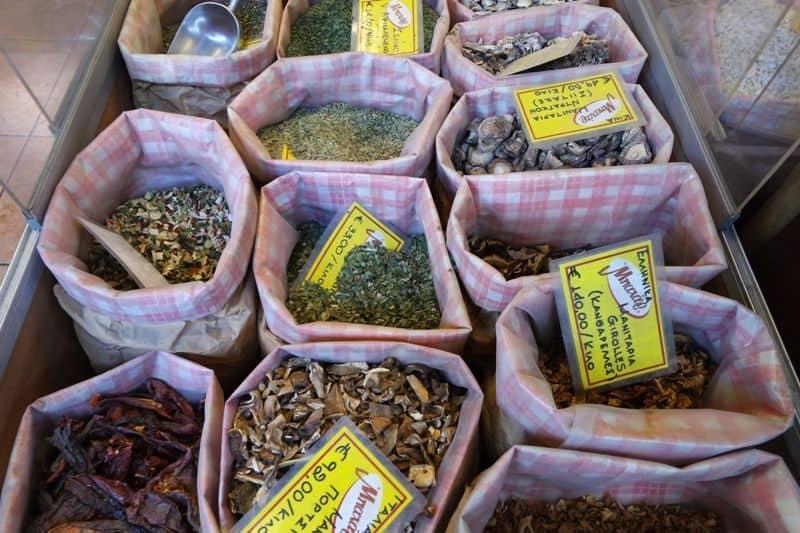 Evripidou street herbs