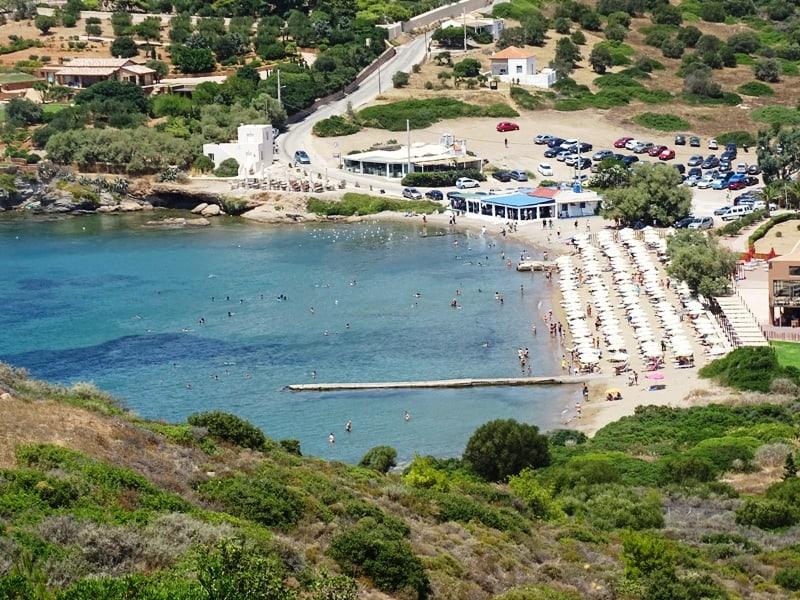 The beach under Poseidon's temple