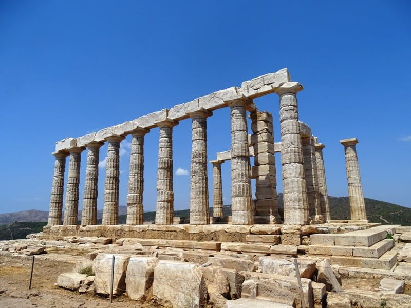 a different view of Poseidon's temple