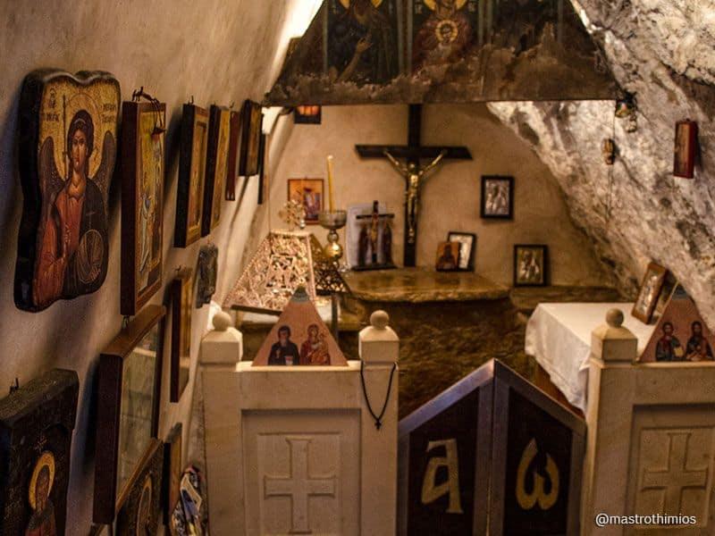 inside Agios Antonios Rethymno Crete