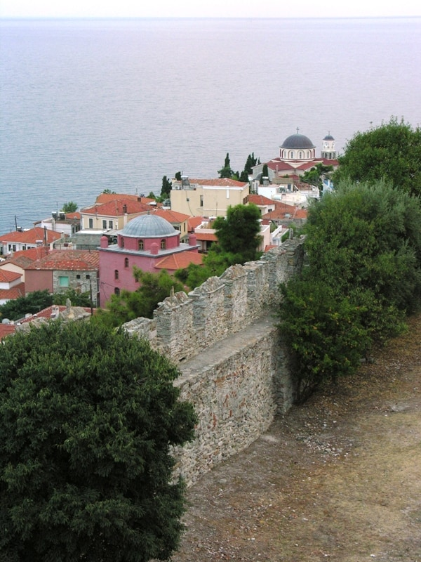 view from Kavala's castle 2 - winter in Greece