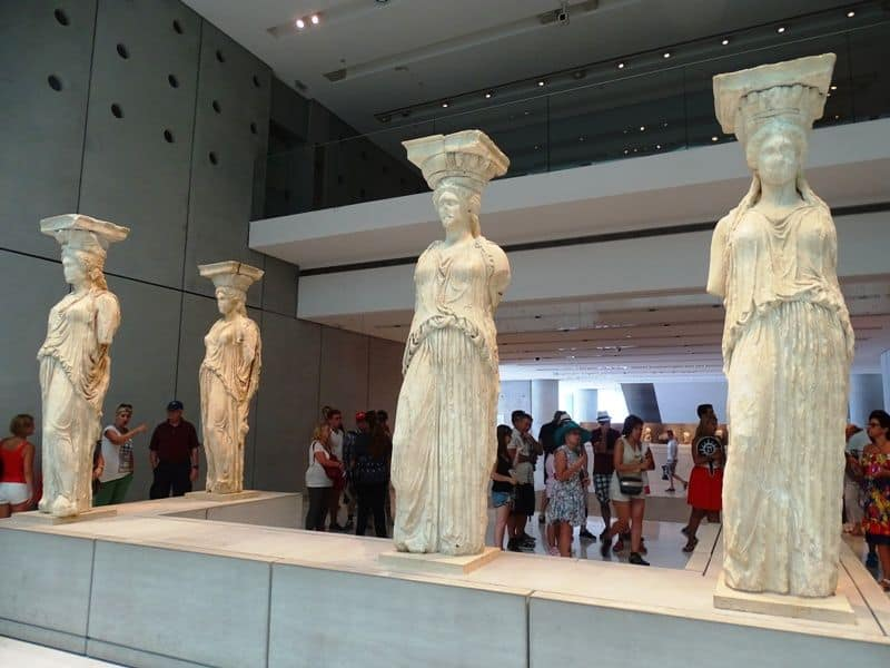 the Caryatids at the Acropolis Museum
