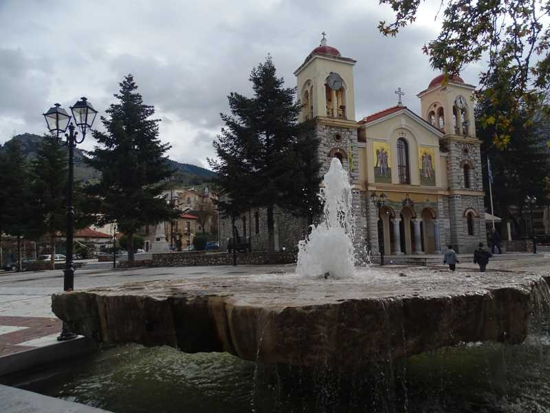 central square of Kalavrita
