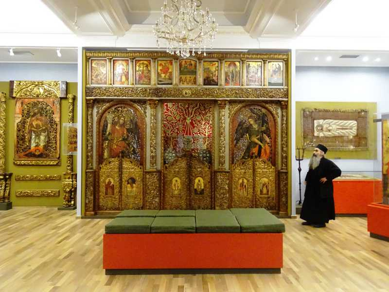 the museum inside Mega Spilaio monastery