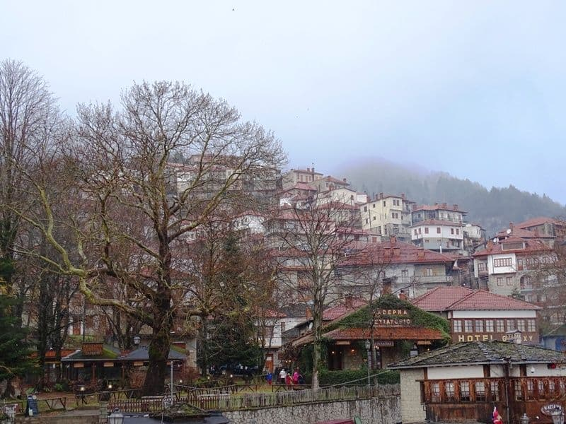 in the centre of Metsovo