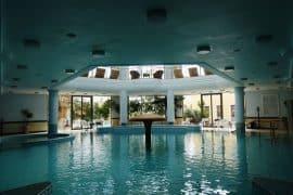 the indoor swimming pool at Thermae Sylla Spa Hotel