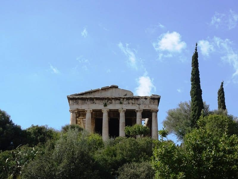The temple of Hephestus in Ancient Agora