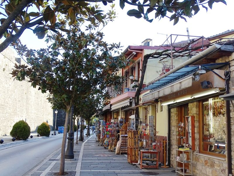 souvenir shops outside the walls of the old town in Ioannina