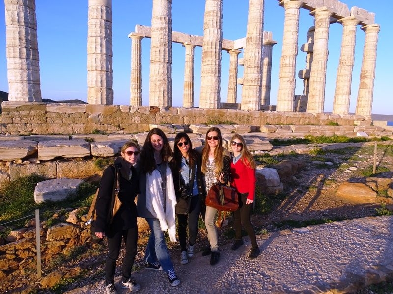 Travel Bloggers Greece in Sounio