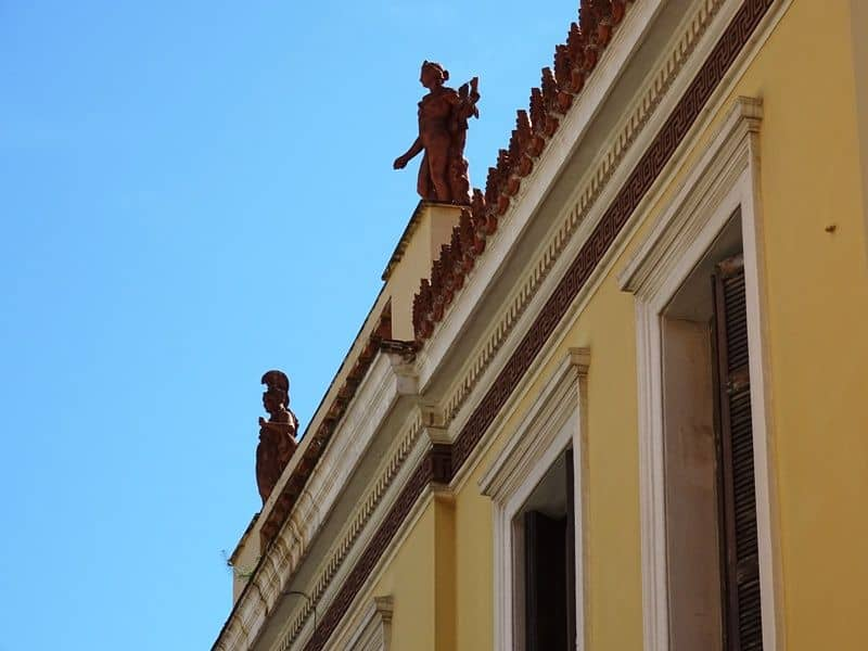 beautiful neoclassical buildings in Plaka