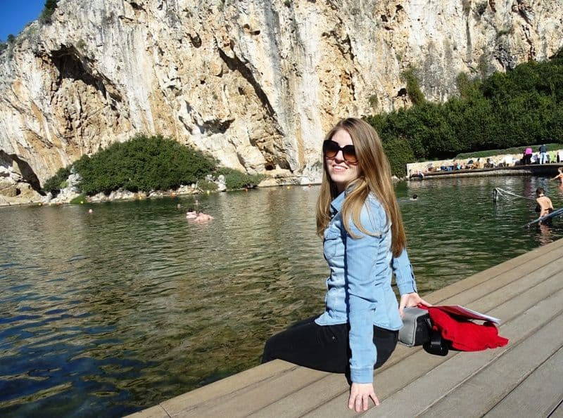 me at Lake Vouliagmeni