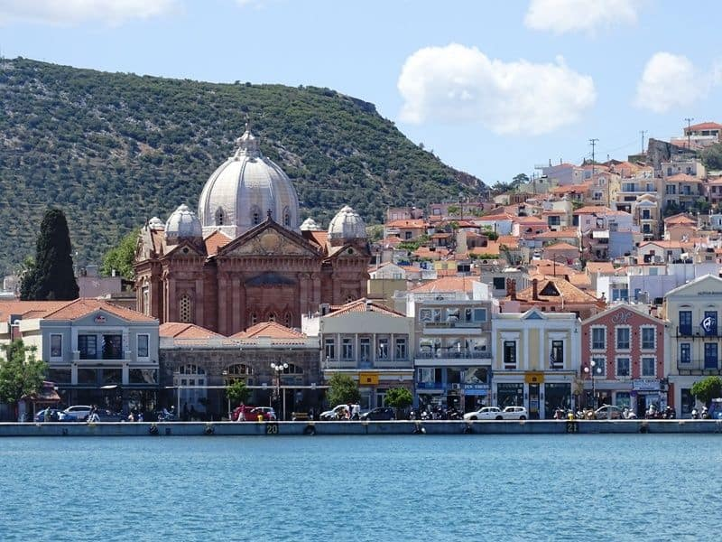 One part of the port of Mytilene