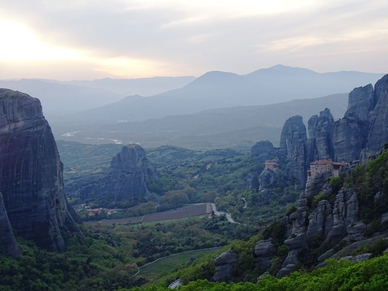 Ready for the sunset in Meteora