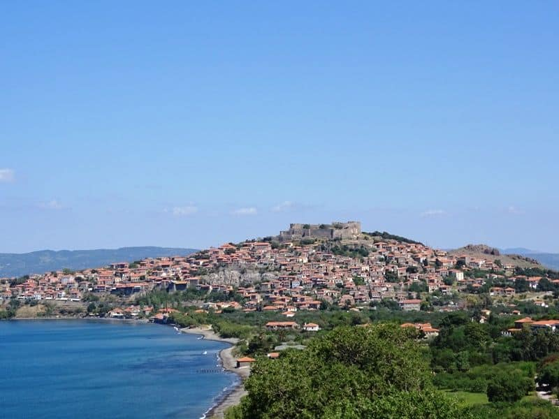 The shores of Molyvos village
