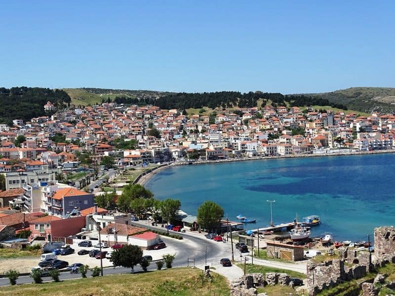 The town of Mytilene