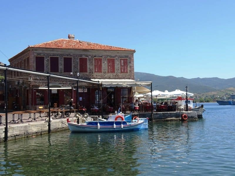 our taverna at the harbour of Molyvos