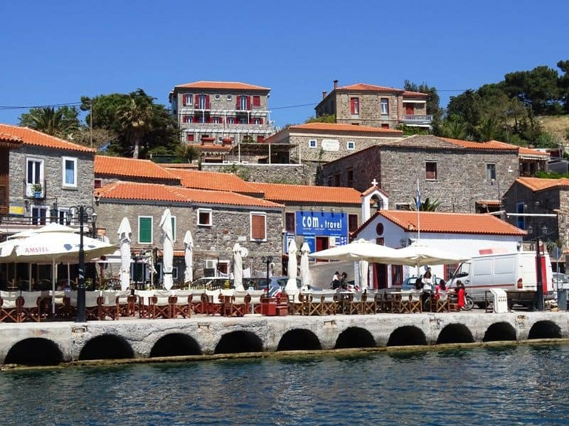 part of the harbour of Molyvos