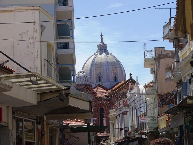 Aghios Therapon as seen from Ermou Street