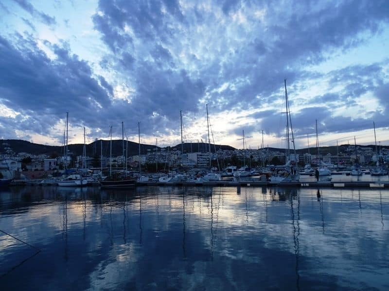 At the marina of Mytilene town in Lesvos