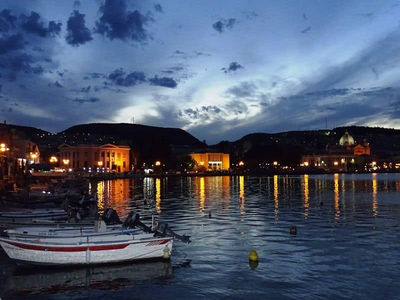 Mytilene-town-at-night