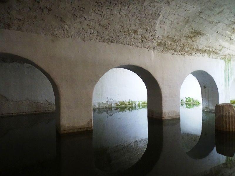 The cistern of he castle of Mytilene